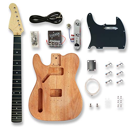 DIY Electric Guitar Kits for Left-handed TL Electric Guitar, Okoume wood Body
