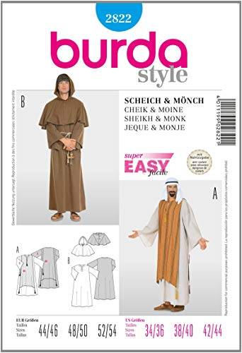 (Burda B2822 Sheikh and Monk Sewing Pattern 19 x 13 cm [Text May not be in)