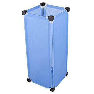 uxcell Household Removable Rectangular Shaped DIY Umbrella Stand Holder Container Blue