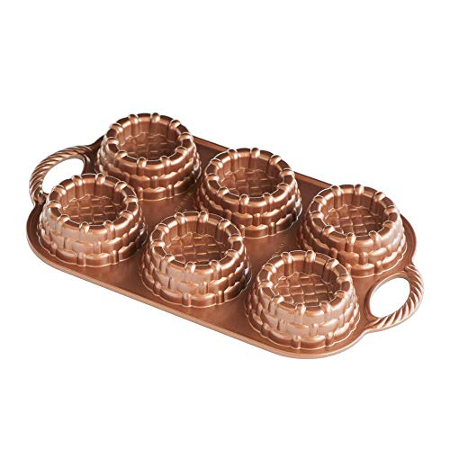 Nordic Ware Cast-Aluminum Nonstick Baking Pan, Shortcake Baskets ()