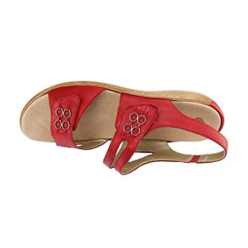 Remonte Rød Hvit Kvinners Store Sko Sandaler Store CvwSTCxHPq