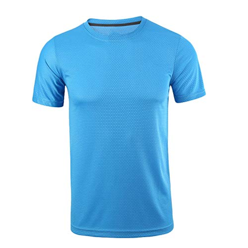 Don't mention the past Sport Shirt Men Tops Tees Running Shirts Mens Gym t Shirt Sports Fitness Jersey,Blue,M]()