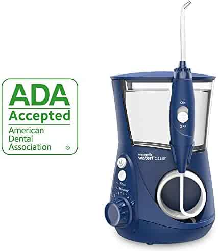Waterpik Water Flosser Electric Dental Countertop Oral Irrigator For Teeth – Aquarius Professional, WP-663 Blue