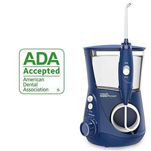 (Waterpik Water Flosser Electric Dental Countertop Oral Irrigator For Teeth - Aquarius Professional, WP-663 Blue)