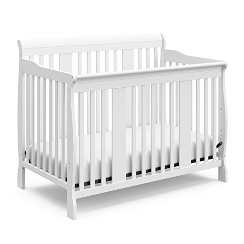 Cheap Storkcraft Tuscany 4-in-1 Convertible Crib, White Easily Converts to Toddler Bed, Day Bed or Full Bed, 3 Position Adjustable Height Mattress