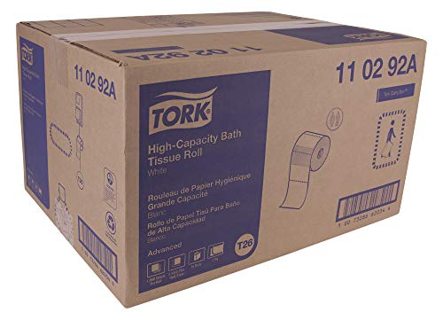 Tork High-Capacity Toilet Paper Roll White T26, Advanced, 2-Ply, 36 x 1000 Sheets, 110292A