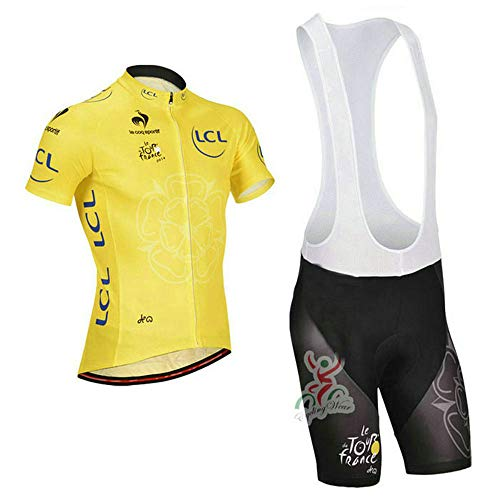 Men's Cycling Jersey Set Bike Jersey Bicycle Summer Breathability Short Sleeve Suit C144 (V, M)