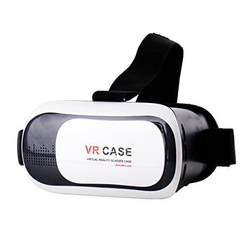 Ryham 3d Video Game VR Virtual Reality Glasses Case Headset 3.0 with Bluetooth Remote Control Adjustable Focal Pupil Distance for 4.5-6inch Smart Phones iPhone 6/6 plus Samsung IOS Android,Black/White