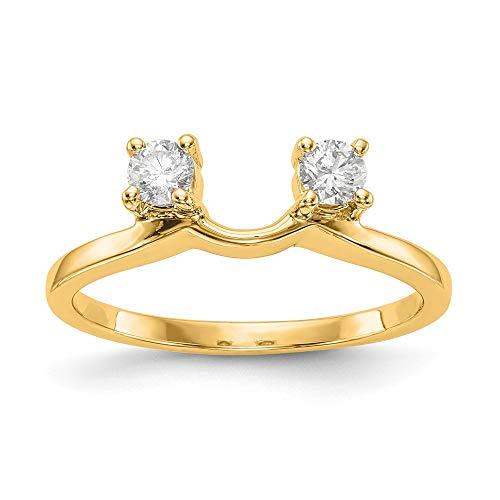 14K Yellow Gold Diamond Enhancer Ring Guard Wrap 0.25 cttw
