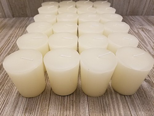 Old Candle Barn 24-Piece Votive Candles - Lily Of The Valley Scented 15 Hour - Perfect Purple Votives - Hand Poured Made In USA
