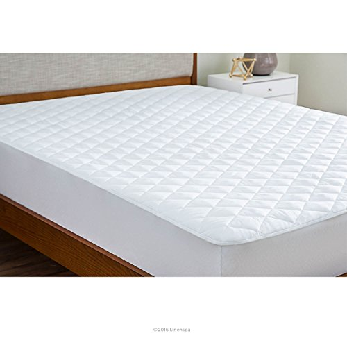 LINENSPA Plush Microfiber Mattress Pad with Deep Pocket Stretch Skirt - Cal King (Quilted Mattress Pad King compare prices)