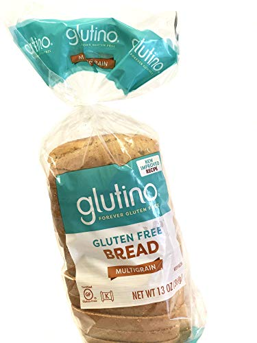 Glutino Gluten-Free Multigrain Sandwich Bread, 13 Oz [6 Pack]