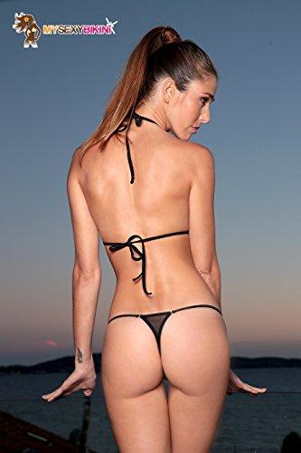 Orange Fine String Maillot Transparent Vert Blanc En Rose De Résille Cameltoe Bikini Bain Noir Micro CRwq70g