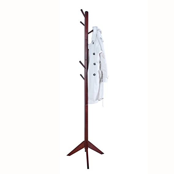 Amazon.com: PeaceipUS Real Wood Rotating Floor Coat Rack ...