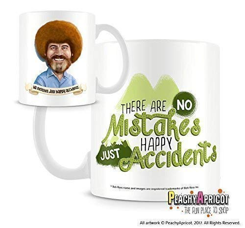 Bob Ross Happy Accidents Officially Licensed 11 Oz Double-Sided Mug