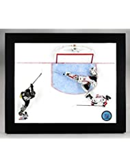 Framed Washington Capitals Goalie Braden Holtby Makes The Save 8x10 Photo Picture (overhead)