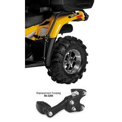 QUADBOSS FENDER PROTECTORS WITH PASSENGER FOOTPEGS FOR ARTIC CAT SERIES ATVS GLOSSY FINISH (673074)