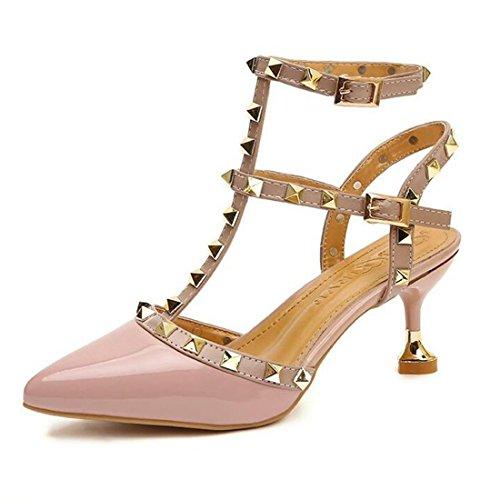 Mujer Sandalias Aguja De Verano Sandalias Tacón De para Sandalias De Tacón Pink con rrpa8xqwt
