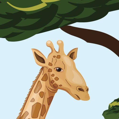 Jungle Tree Wall Decals, Jungle Stickers, Lion Decals, Drawn Jungle Animals Decal by Nursery Decals and More (Image #1)