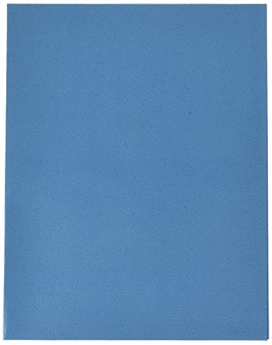 School Smart 2 Pocket Folder - 9 x 12 inch - Pack of 25 - Light Blue