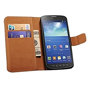 zxc Genuine Leather Wallet Style Case for Samsung Galaxy S4 Active i9295 (Assorted Colors) , White