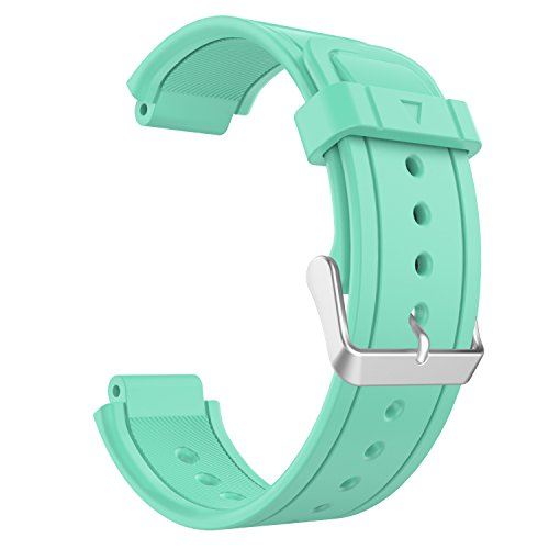 Garmin Vivoactive Watch Band, MoKo Soft Silicone Replacement Fitness Bands Wristbands with Metal Clasps for Garmin Vivoactive / Vivoactive Acetate Sports GPS Smart Watch - Mint GREEN