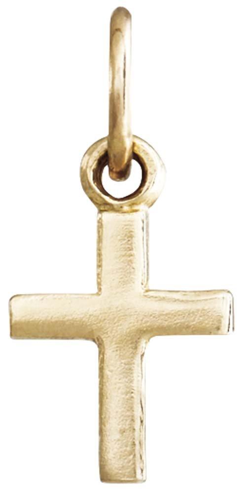 Helen Ficalora Cross Mini Charm Yellow Gold