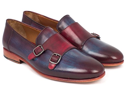 Parkman Shoes Navy Men's Bordeaux Double ID amp; Paul HR65CX Monkstrap fd6wq1q