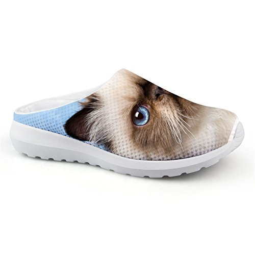 Fashion Women Summer Mesh Sandals 3D Animals Slip-On Slippers Breathable Female Beach Water Shoes cat-6