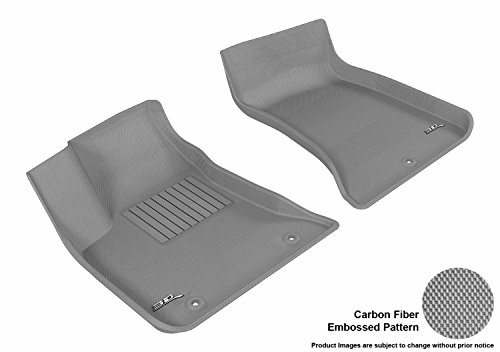 3D MAXpider Front Row Custom Fit All-Weather Floor Mat for Select Dodge Charger/Chrysler 300C Models - Kagu Rubber (Gray)