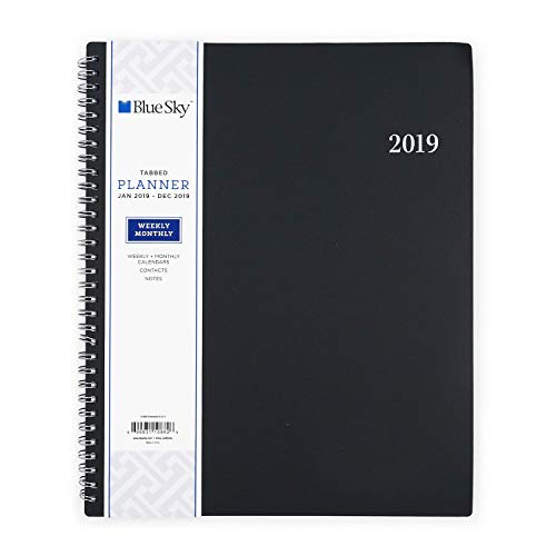 Blue Sky 2019 Weekly & Monthly Planner, Flexible Cover, Twin-Wire Binding, 8.5