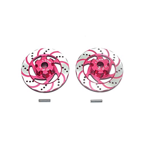 Rape Flower 2 Pcs Brake Disc Rotor Anti Rust for Traxxas UDR 1/7 RC Unlimited Desert Racer (Pink) (Metal Rotor Headset)