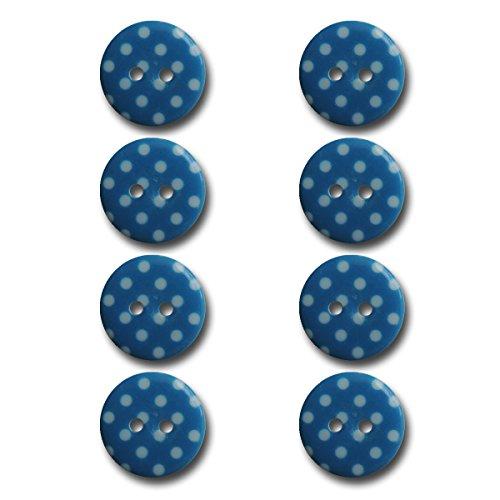 (Maya Road BUT2944 Polka Dot Buttons, Slushie Blue)