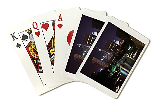 - Indianapolis, Indiana - Buildings and Canal at Night - Photography A-93791 (Playing Card Deck - 52 Card Poker Size with Jokers)