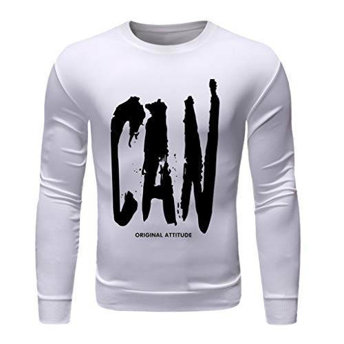 - Men's Fashion Quick-Drying Casual Military Pure Color Long Sleeve T-Shirt Tops, MmNote D-White