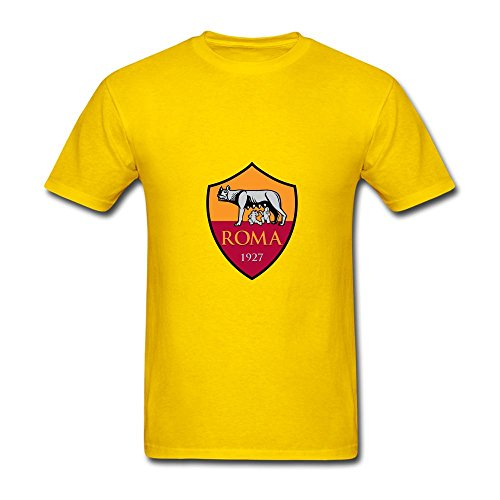 Men's AS Roma Logo FC Short Sleeve T Shirts