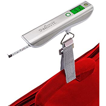 #1 Luggage Scale w/ Tape Measure, 110 lbs w/ FREE AAA batteries, Best For Travel