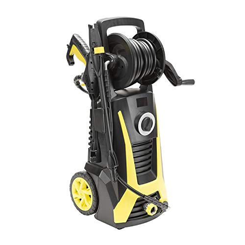 Realm BY03-VBP-WTR 2400 PSI 1.75 GPM 13 Amp Electric Pressure Washer with Hose Reel, Built-in Soap Dispenser, Adjustable Nozzle ()