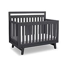 Delta Children Quinn 4-in-1 Convertible Crib, Charcoal Grey