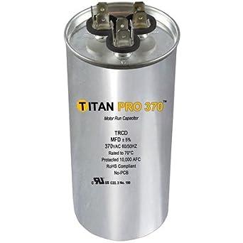 Round Dual Run Capacitor 35 5 Mfd 370 Volts Amazon Com