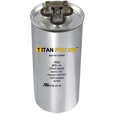 PACKARD TRCD455 Titan Pro 45+5 MFD 370V Round Run Capacitor Replaces PRCD455