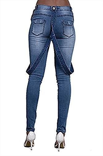 Blue Donna Jeans Donna Lustychic Dungaree Lustychic Blue Jeans Lustychic Donna Dungaree Jeans Blue PHUZpwq