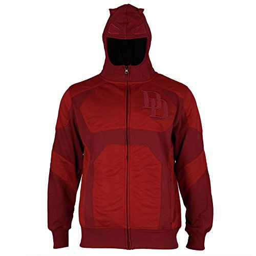 I Am Daredevil Costume Hooded Sweatshirt 2X-Large