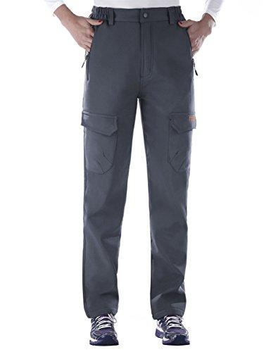 Nonwe Women's Warm Water-Resistant Workouts Fleece Climbing Sweat Pants Gray1 XL/32 Inseam