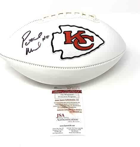 Patrick Mahomes Kansas City Chiefs Signed Autograph Embroidered Logo Football  JSA Witnesesd Certified 71d685a3c
