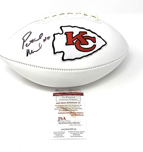 Embroidered Autograph - Patrick Mahomes Kansas City Chiefs Signed Autograph Embroidered Logo Football JSA Witnesesd Certified
