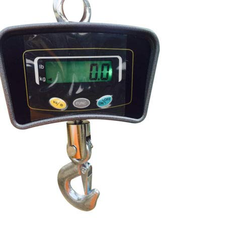 ONEPACK Hanging Scale,500KG/1000KG 1100LB Digital Industrial Heavy Duty Crane Scale Smart Measuring Tool Orange for Farm Factory