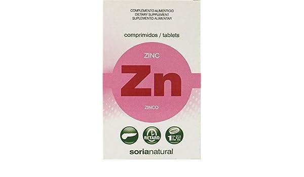 Soria Natural Zinc Retard - 48 Tabletas: Amazon.es: Salud y cuidado personal