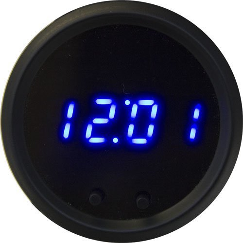 Intellitronix M8009R LED Digital Clock 2 1/16'' w/ 2 Push Buttons Black Red