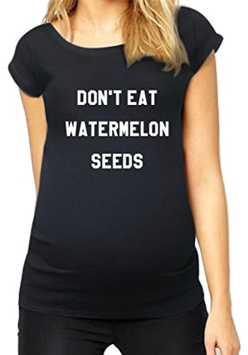HAPPYBERRY Women Maternity T Shirt Funny Pregnancy Tops Ruched Side Graphic Tee